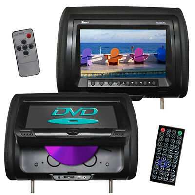"""TVIEW T939DVPLBK  Tview 9"""" Headrest Monitor with DVD Player Sold in Pairs Black"""