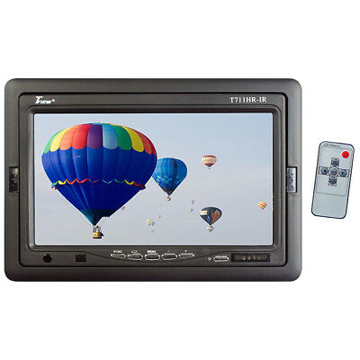 """TVIEW T711HRIR  Tview 7"""" TFT LCD Headrest Monitor with shroud and stand"""