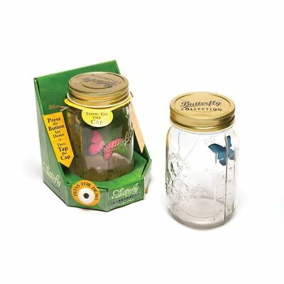 My Butterfly Collection - Animated Butterfly in a Mason Jar - Blue Morpho