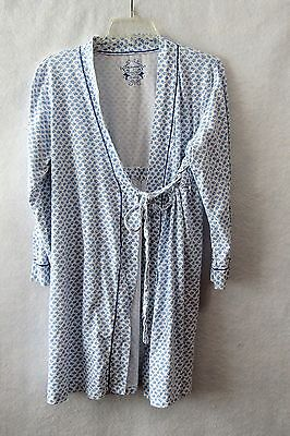 Motherhood Maternity Blue & White Floral Robe Size Large