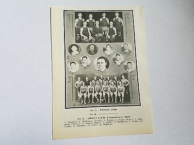 Nassau Cubs Amicus Club Youngstown Ohio 1924-25 Basketball Team Picture