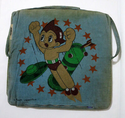 Vintage Mighty Atom Two-Sided Seat Cushion Japan 1960s Astro Boy Japanese UNIQUE