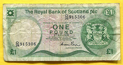 1985 Scotland Pound - Circulated P-341b  -  915306
