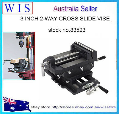 "2 Way Cross Vise Clamp Holder Drilling Milling Machine Cross Slide Drill 3"" Jaw"