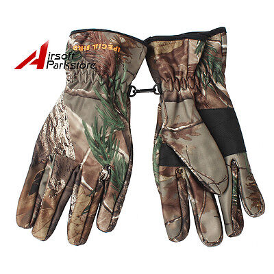 Bionic Camouflage Camo Gloves Outdoor Hunting Shooting Sports Full Finger Gloves