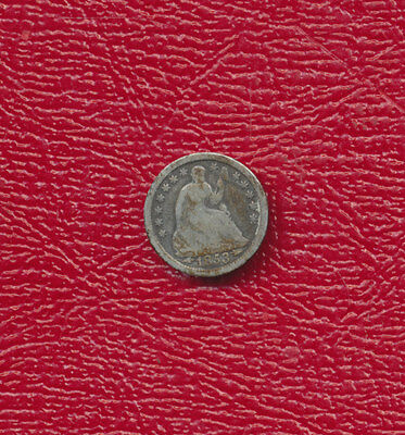 1853 Seated Liberty Silver Half Dime **nice Circulated Type Coin** Free Shipping