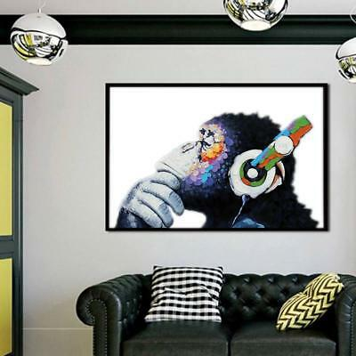 DJ MONKEY GORILLA CHIMP Canvas Wall Art Print Home Decor - CB