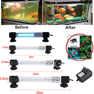 7/9/11W Waterproof Aquarium Fish Tank Submersible Light UV Sterilizer Lamp EU