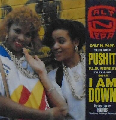 "SALT N PEPA - Push It / I Am Down - 7"" Single PS"