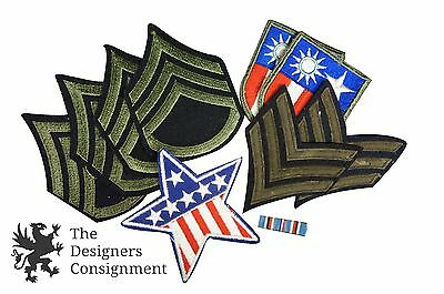 Lot 10 US Military Patches Staff Sergeant WWII China Burma India Campaign Medal