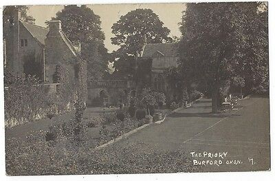 BURFORD The Priory, Oxon, RP Postcard by Simms, Postally Used 1919
