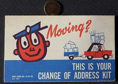 1967 United States Post Office Mr.Zip Code Unused Change of Address Postcard Set