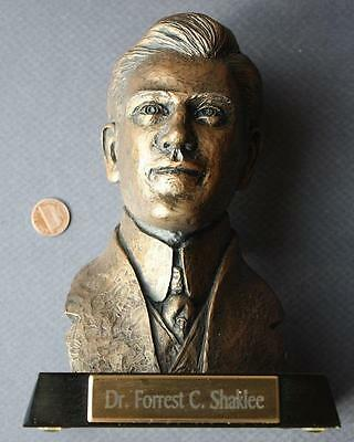 Vitamin Company Founder Dr.Forrest C. Shaklee 3-D bronze colored bust statue!