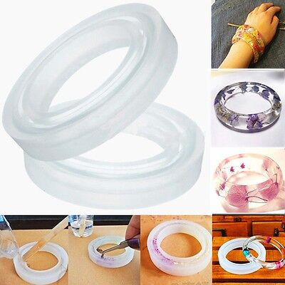 Silicone Mold Casting Mould Resin Bangle Bracelet Jewelry Making DIY Tools New