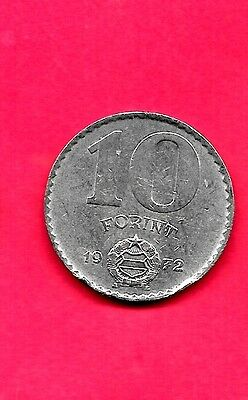 Hungary Hungarian Km591 1972 Xf-Super Fine-Nice Old 10 Forint Coin