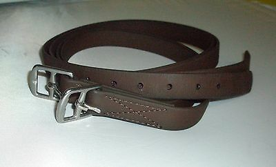 """Pair of Synthetic Brown Stirrup Leathers 57"""" Long"""