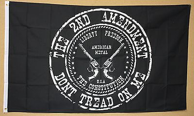 2ND AMMENDMENT DON'T TREAD ON ME FLAG 3'x5' SUPPORT PATRIOTIC USA UNITED STATES