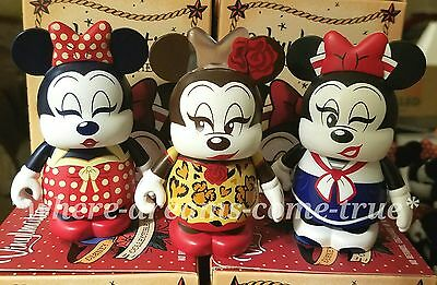 "Vinylmation Eachez 3"" Minnie Mouse Set of 3 (1) common & (2) Variants  L.E 2500"