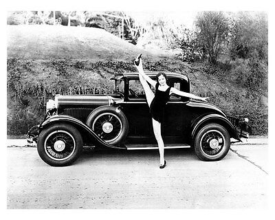 1929 Dodge Coupe ORIGINAL Factory Photo Hollywood Star Frances Gentry oub3145