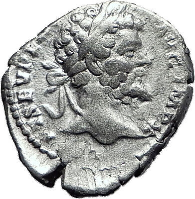 SEPTIMIUS SEVERUS 193AD Authentic  Silver Ancient Roman Coin Salus Health i60404