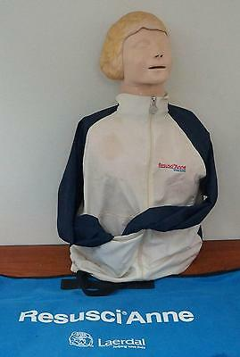 Laerdal Resusci Anne Cpr Dummy With Carry Case & Accessories !   L823