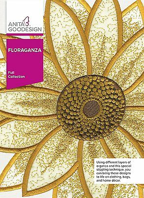 Anita Goodesign  FLORAGANZA Embroidery Design Collection 286AGHD - NEW SEALED