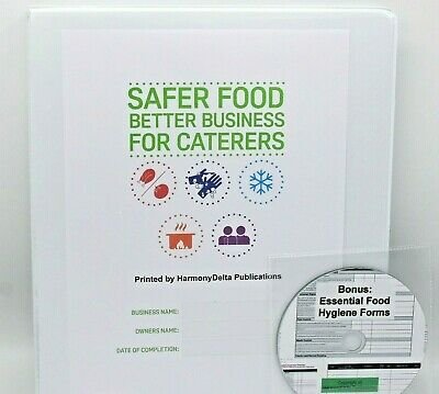 Updated 2019 Safer Food Better Business SFBB Caterers Pack & 13 Month Diary