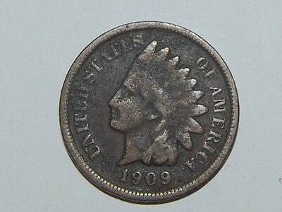 1909 Indian Head Cent Penny Nice Coin Lot # 567
