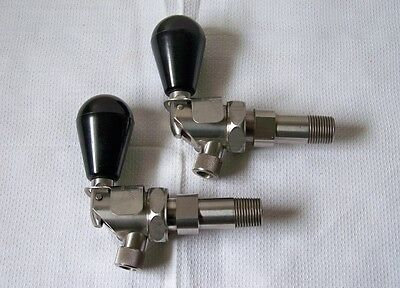 2 ECONOMY SAFETY FAUCET CO. Industrial Self-Closing Stainless Drum Barrel Taps