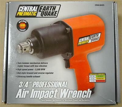 """Central Pneumatic Earthquake 3/4"""" Professional Air Impact Wrench #68423"""