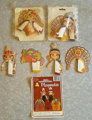 Vintage Lot of 12 Beistle Thanksgiving Honeycomb Decorations with Packages
