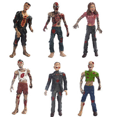 Set of 6 Walking Corpses Doll Figures Movie Characters Kids Toy Collectibles