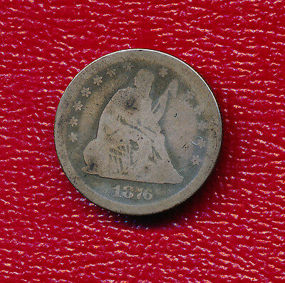 1876-S Seated Liberty Silver Quarter **nice Coin** Free Shipping!