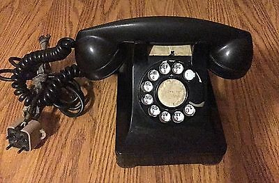 Vintage Bell Western Electric F1 Black Rotary Dial Desk Phone