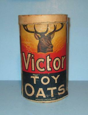 """OLD 1lb. Box for Victor Toy Oats (Quaker) """"A Toy in Each Package"""""""