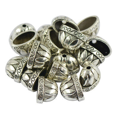 20pcs Tibetan Silver Large Pewter Flower Bead Caps Jewelry Findings Beading
