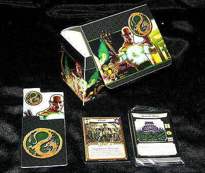 L5R Legend of the Five Rings ccg vintage DRAGON premium deck box with promos