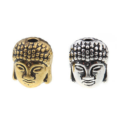 10pcs Buddha Head Loose Beads Alloy Charms Spacer DIY Bracelet Making 10*9mm