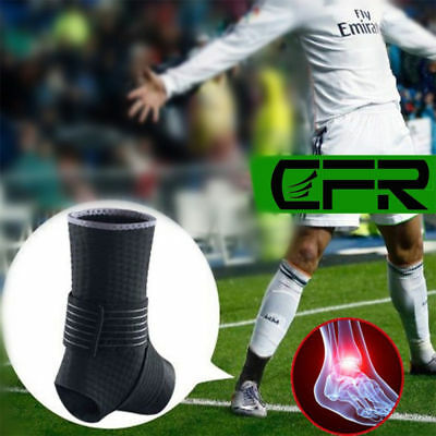 Medical Football Ankle Support Foot Brace Compression Sock Sport Relief Hurt UK