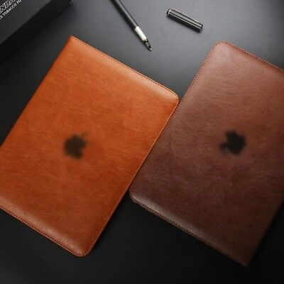 Genuine Soft Leather Smart Stand Case Cover for Apple iPad Air Pro Mini 1 2 3 4