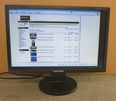 """Samsung SyncMaster 943NW LS19MYNKBBAUEN 19"""" Widescreen LCD TFT Colour Monitor"""
