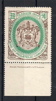 1924 Philatelic Congress Stamp Mounted Mint (Green Oval)