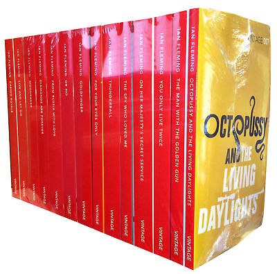 James Bond 007 Ian Fleming 14 books Series Collection Set Paperback English New