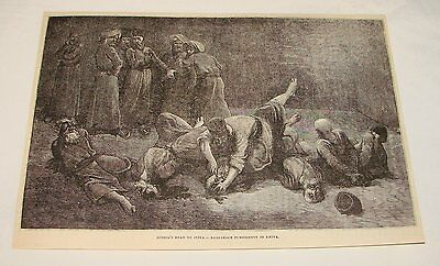 1878 magazine engraving ~ BARBAROUS PUNISHMENT IN KHIVA