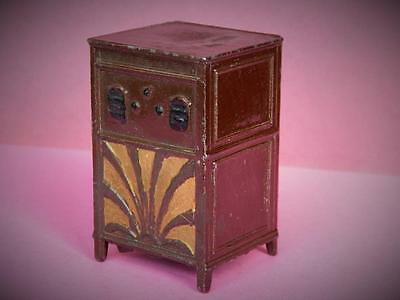 CHARBENS PRE-WAR VINTAGE 1930s VERY RARE HOLLOW CAST LEAD DOLL HOUSE RADIOGRAM