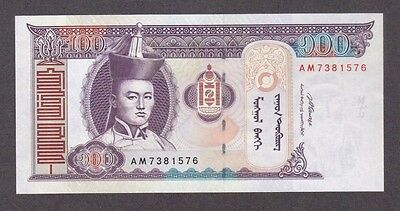2008 100 Tugrik Genghis Khan Mongolia Currency Gem Unc Banknote Note Money Bill