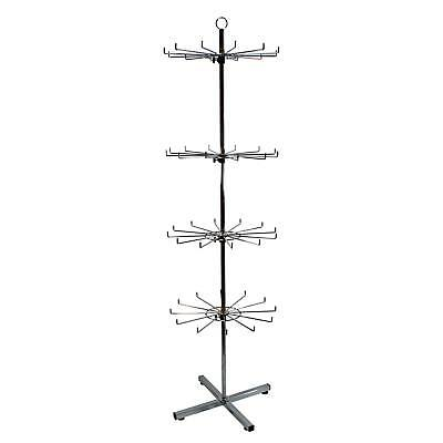 48 Hook Rotating 4 Tiered Hook Floor Stand in Chrome (J11/12)