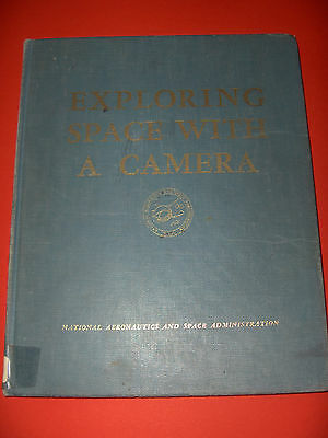1968 BOOK EXPLORING SPACE WITH CAMERA  PHOTOGRAPHS FROM SPACE NASA b/w colour