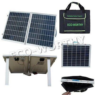 50W 12V Folding Solar Panel Sun Power Complete Kit for Hiking Camping Car RV
