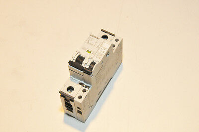 Siemens 5SY71 MCB C6 Single Pole 6A Circuit Breaker w/ Aux Circuit